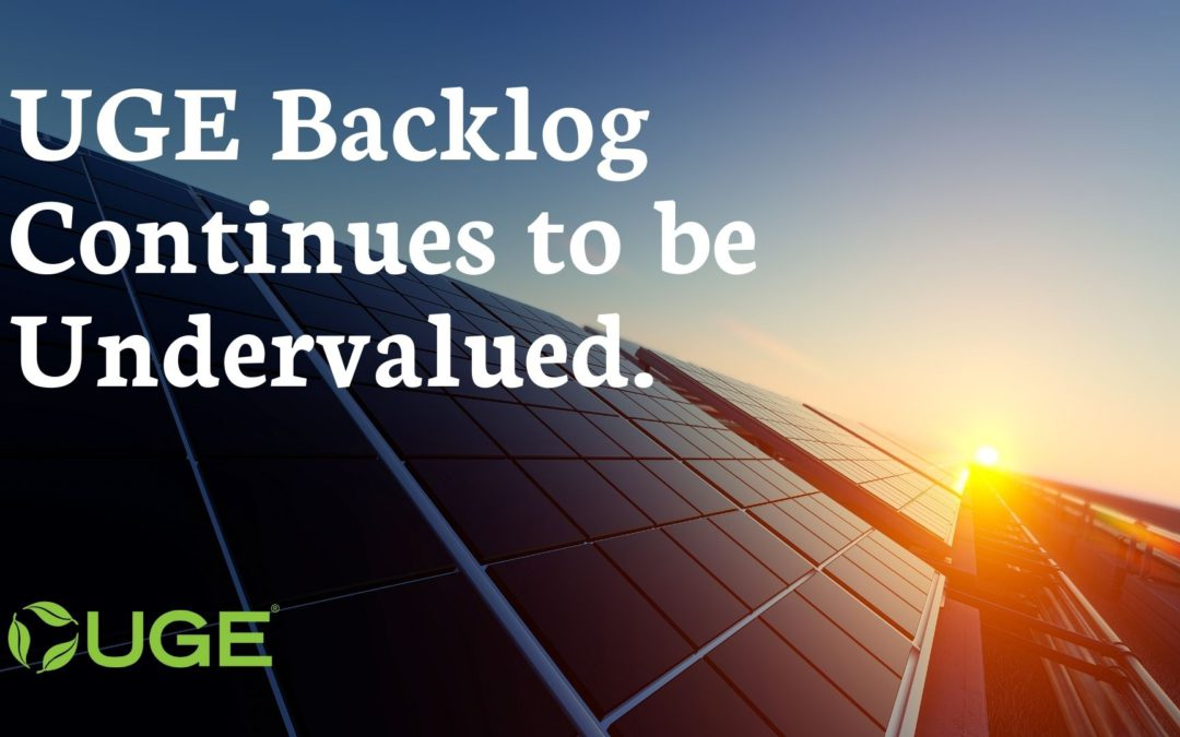 UGE Backlog Continues to be Undervalued